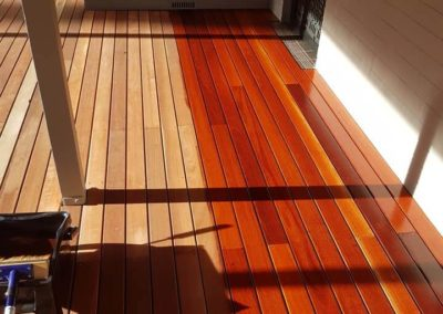 Recent project at Hahndorf.Jarrah deck came up stunning with Cutek Cd50 oil.